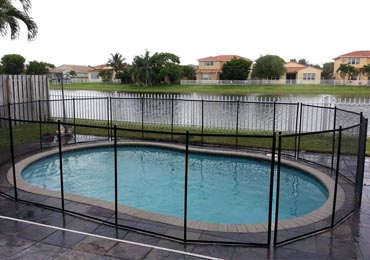 Black Pool Fence